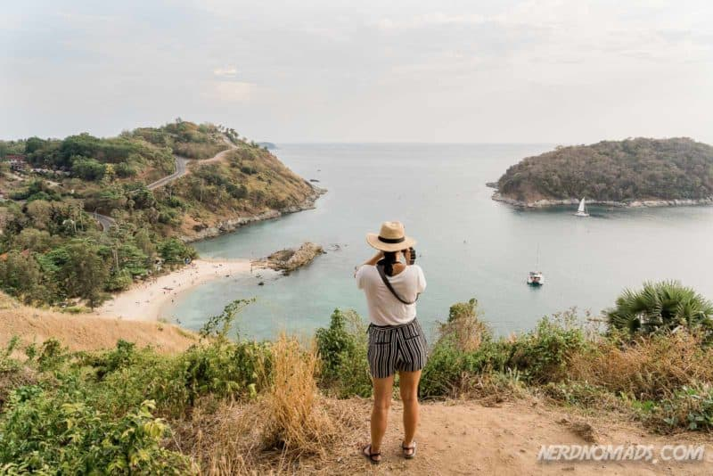 Lovely view from Windmill Viewpoint, Phuket, Thailand