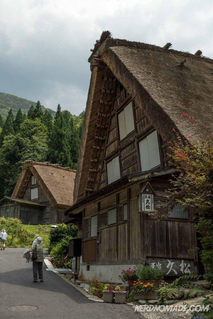 gassho-zukuri house at Shirakawa-go