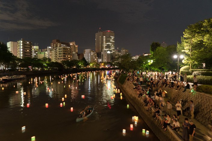 Floating lanterns Hiroshima