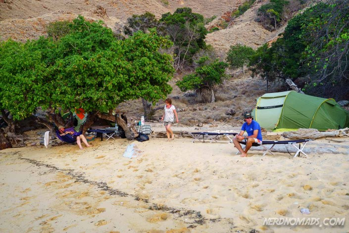 Our lovely camp site at Sebayu Island.