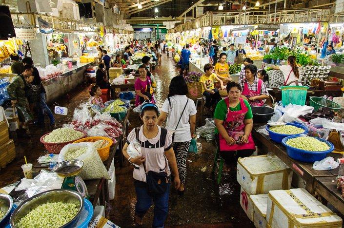 Pak Klong Talat Market Bangkok