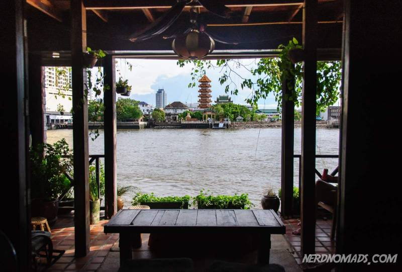 View of the Chao Phraya river from Lay La Long Hotel in Bangkok