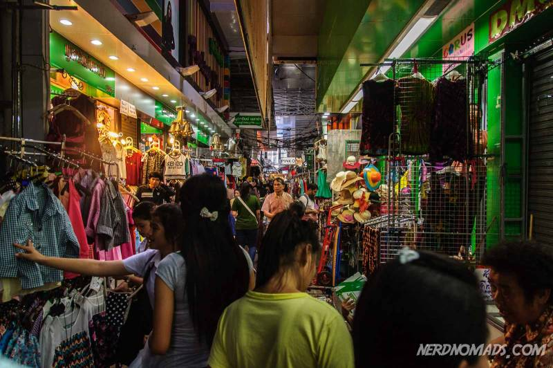 Inside Pratunam Market with all the vendor stalls in Bangkok