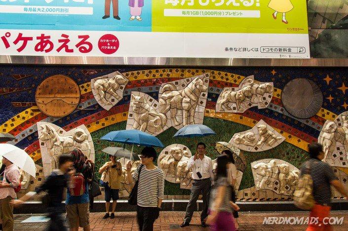 Shibuya train station tokyo