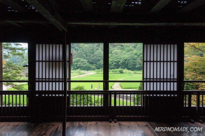 Inside the Wada House, beautiful view