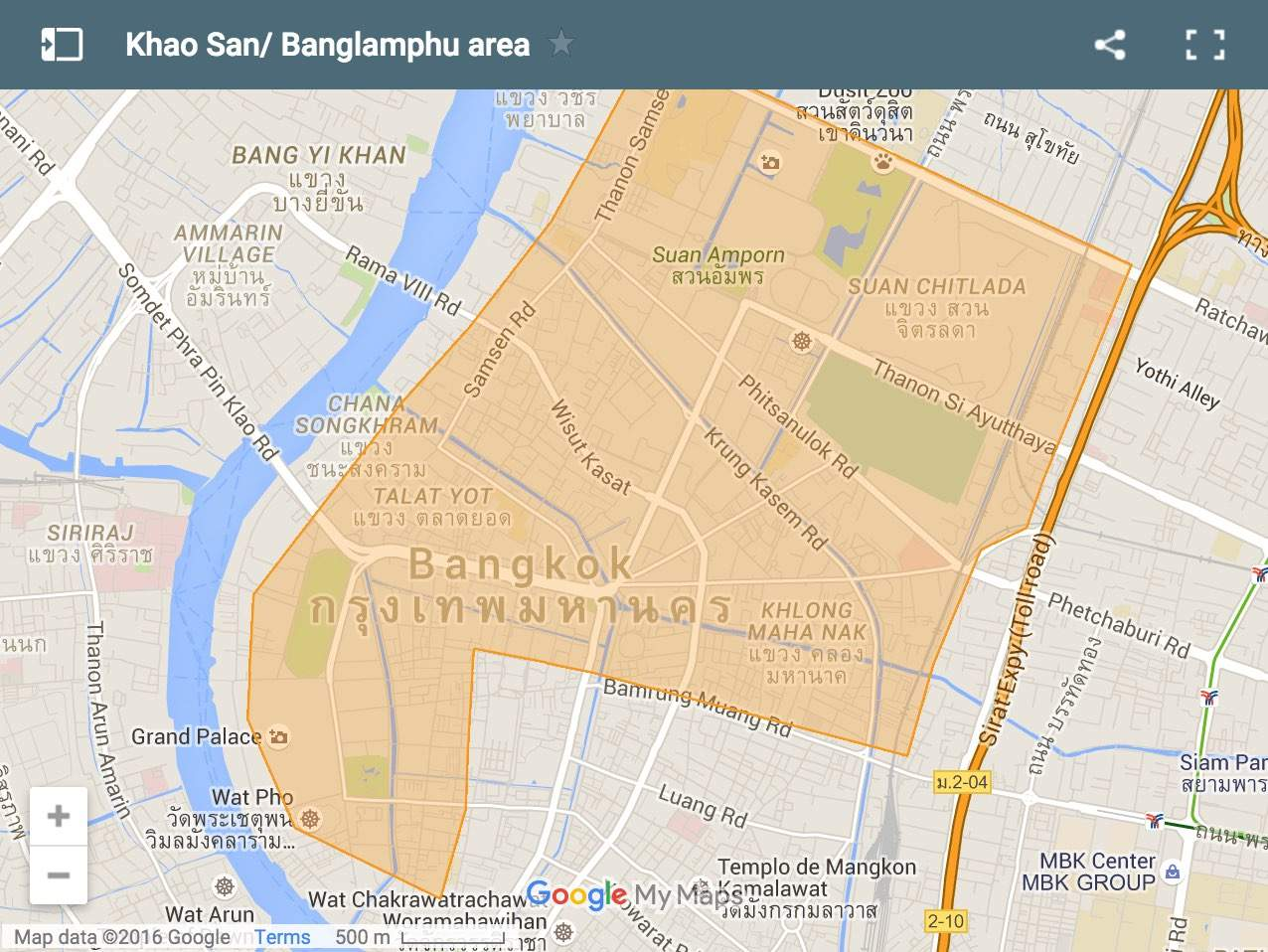 Khao-San map