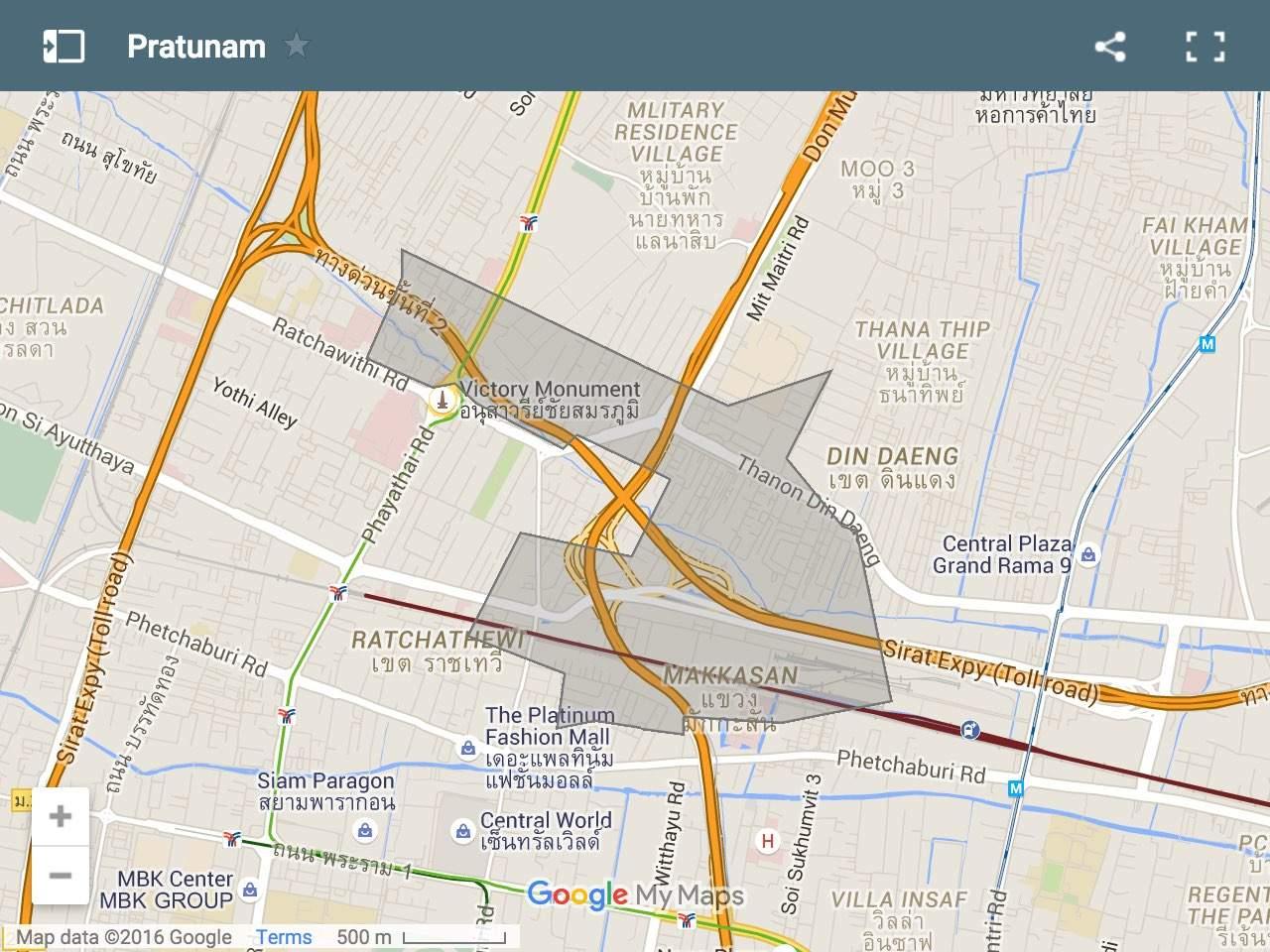 Map of Pratunam