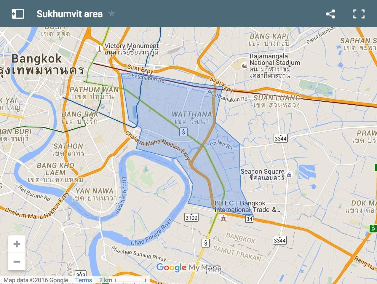 Sukhumvit map