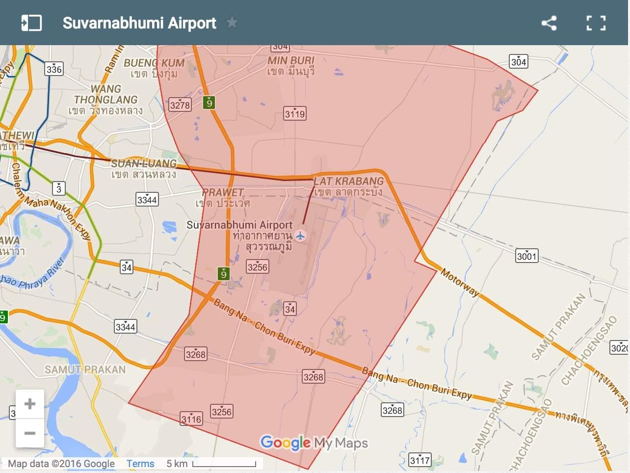 Suvarnabhumi-Airport map