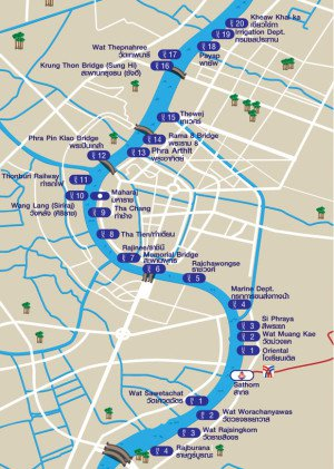 Chao Phraya river stations